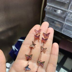 Swarovski Jewelry Rhodium Plated Earrings
